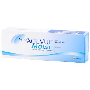1-Day Acuvue Moist Contact Lenses - with lacreon - UV Blocking - 30 lenses
