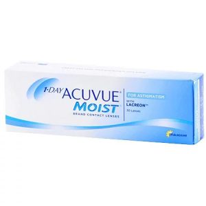 1 Day Acuvue Moist for Astigmatism with lacreon - UV Blocking - 30 Lense Pack