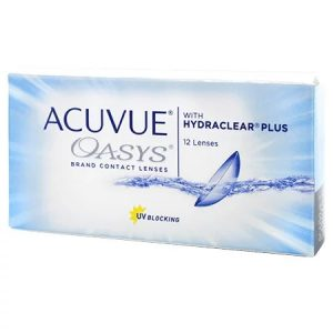 Acuvue Oasys contact lenses with hydraclear plus 12 lenses - UV Blocking