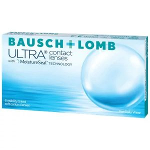 Bausch & Lomb Ultra contact lenses with moisture seal technology - 6 daily wear visibly tinted lenses