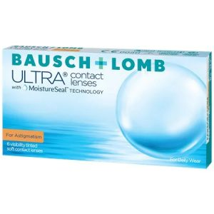 Bausch & Lomb Ultra contact lenses with moisture seal technology - For Astigmatism - 6 daily wear visibly tinted lenses
