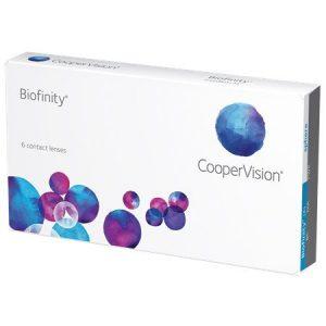 Biofinity Cooper Vision 6 pack of lenses